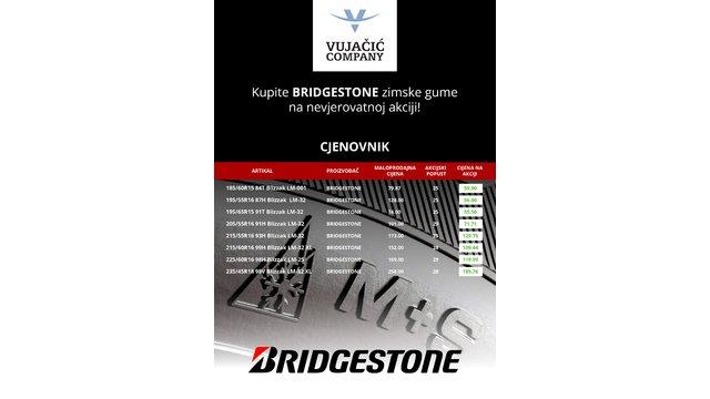 Kupite Bridgestone zimske gume na nevjerovatnoj akciji!
