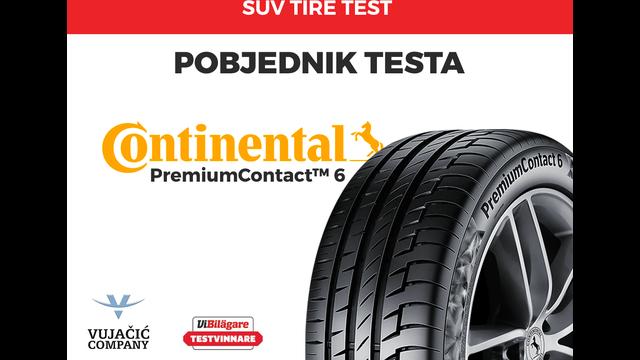 Pobjeda Continentala u švedskom testu guma za SUV