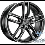 18X8.0 112.00X5 MSW 26 * Matt Dark Titanium Full Polished ---