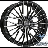 16X7.5 100.00X5 OZ EGO Matt Black Diamond Cut