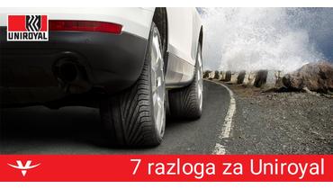 7 razloga za odabrati UNIROYAL gume
