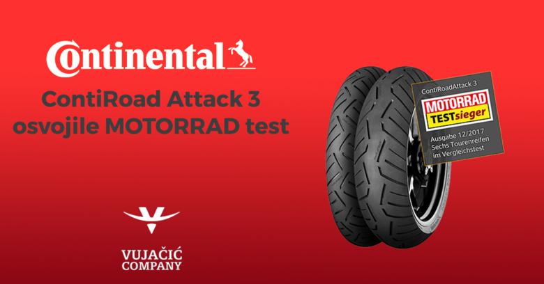 Novi ContiRoad Attack 3 pobjednik MOTORRAD testa