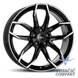 18X8.0 114.30X5 RIAL LUCCA diamond black frontpolished