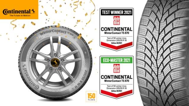 """AutoBild: Nova guma iz Continentala je apsolutni pobjednik na testu i """"eko šampion"""""""
